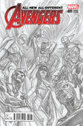 All-New, All-Different Avengers Vol 1 1 Sketch Variant