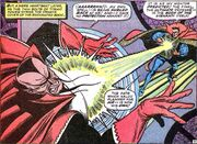 Kaluu (Earth-616) and Stephen Strange (Earth-616) from Strange Tales Vol 1 150 001