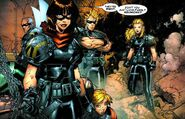 Elizabeth Guthrie, Paige Guthrie, Samuel Guthrie and Joshua Guthrie (Earth-295) from X-Men Age of Apocalypse Vol 1 3 0001