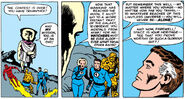 Fantastic Four meet the Watcher from Fantastic Four Vol 1 13