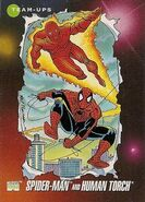 Peter Parker and Johnathon Storm (Earth-616) from Marvel Universe Cards Series III 0001