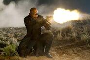 Nicholas Fury (Earth-199999) shooting