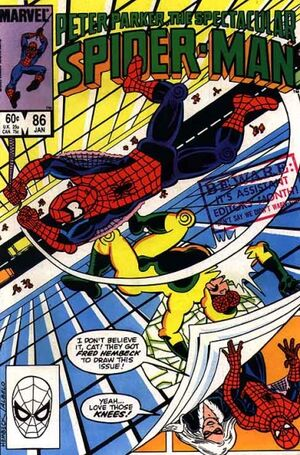 Peter Parker, The Spectacular Spider-Man Vol 1 86