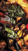 Vertigo (Savage Land Mutate) (Earth-616) and Laura Kinney (Earth-616) from X-Men Vol 2 207 0001