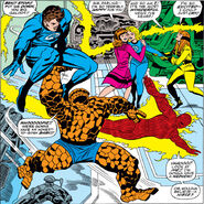 Fantastic Four celebrate Sue's Pregnancy from Fantastic Four Annual Vol 1 5