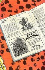 Ka-Zar the Savage Vol 1 32 Back