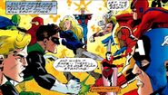 Avengers (Earth-616) vs the Justice League of America from Ulimited Access Vol 1 2