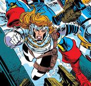 Crystalia Amaquelin (Earth-616) Avengers battle armor from Avengers Vol 1 363