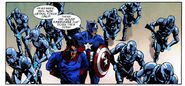James Buchanan Barnes (Earth-616) and Steven Rogers (William Burnside) (Earth-616) from Captain America Vol 1 605 0001