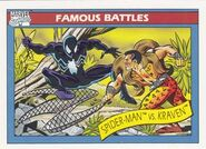 Peter Parker vs Sergei Kravinoff (Earth-616) from Marvel Universe Cards Series I 0001