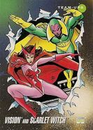 Vision and Wanda Maximoff (Earth-616) from Marvel Universe Cards Series III 0001