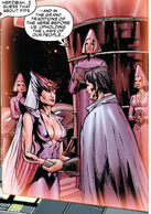 Cal'syee Neramani (Earth-616) and Gabriel Summers (Earth-616) from Uncanny X-Men Vol 1 485 0001