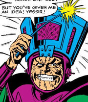 Molecule Man's Galactus inspired helmet from Avengers Vol 1 215