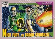 Nicholas Fury vs. Wolfgang von Strucker (Earth-616) from Marvel Universe Cards Series II 0001