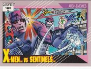 X-Men vs. Sentinels (Earth-616) from Marvel Universe Cards Series II 0001