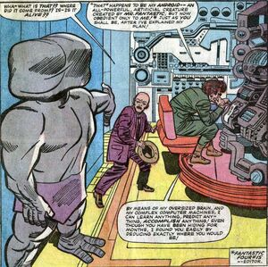 Phillip Masters (Earth-616) meets the Mad Thinker for the first time