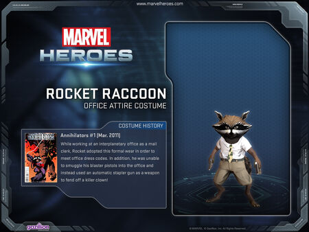 Costume rocketraccoon officeattire