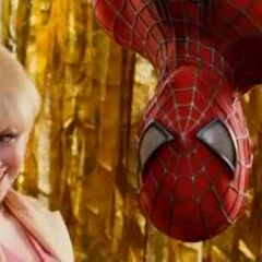 Gwen with Spider-Man during the celebration