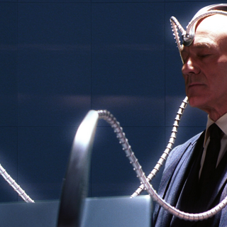 Professor Xavier using Cerebro
