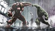 Concept art Iron Man Hulkbuster-vs-Hulk