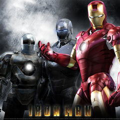 Iron Man's first three suits.