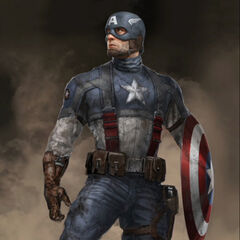 Production concept art of Captain America.