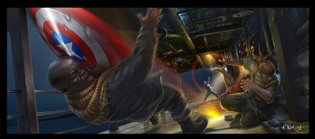 File:Captain America The Winter Soldier shield bashing concept art.jpg