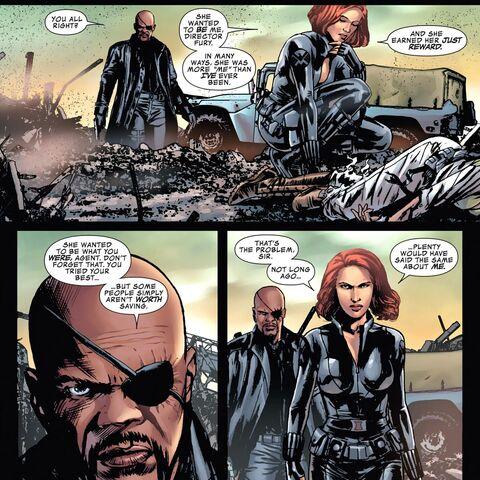 Fury Talking to Natasha