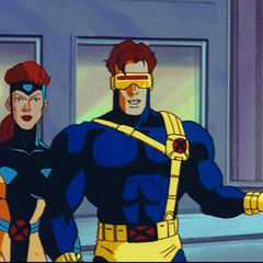Cyclops and Jean during the Phalanx attack.
