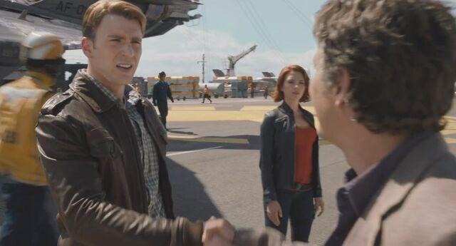 File:Steve Rogers meets Bruce Banner.jpg