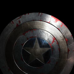 Cap's shield in the <i>Captain America: The Winter Soldier</i> teaser poster.