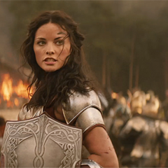 Lady Sif in battle.