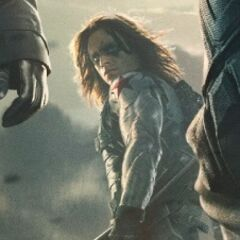 The Winter Soldier in the background of the International Poster.