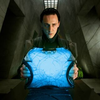 Loki holds the casket