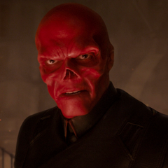 Red Skull having revealed his true face.