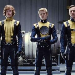 The original team in their original uniform. (not present: <a href=