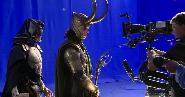 File:The Other and Loki BTS The Avengers.JPG