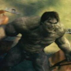 Hulk unleashes on Ross' forces.