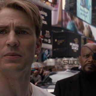 Steve talks to Nick Fury.