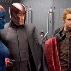 Magneto, Mystique, and Pyro recruiting more members in the Brotherhood.
