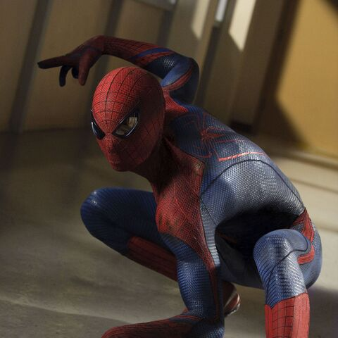 The Spider-Man suit seen in <i>The Amazing Spider-Man</i>.