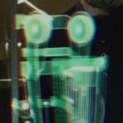 A holographic display of the first repulsor design.