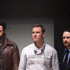Charles and Logan visit Erik in prison.