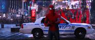 Spider-Man tries to calm Max down