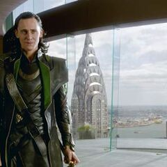 Loki in Stark Tower.