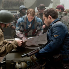 Cap and The Commandos planning their next attack.