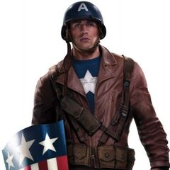 The second Captain America uniform from <i>Captain America: The First Avenger</i>.