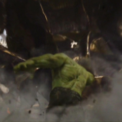 Hulk punching a Leviathan.