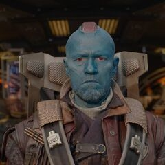 Yondu on his ship.