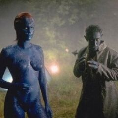 Kurt and Mystique.